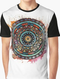Hand-Drawn Space Mandala Graphic T-Shirt