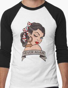never again Men's Baseball ¾ T-Shirt