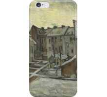 Vincent Van Gogh - Houses seen from the back, December 1885 - February 1886 iPhone Case/Skin