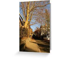 Street in Winter Greeting Card