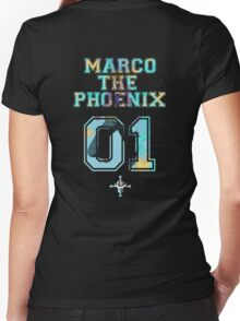 Marco The Phoenix  Women's Fitted V-Neck T-Shirt