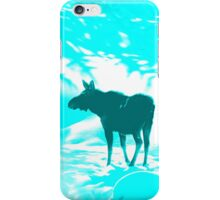 Turquoise Moose on the loose!  iPhone Case/Skin