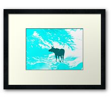 Turquoise Moose on the loose!  Framed Print