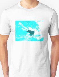 Turquoise Moose on the loose!  T-Shirt