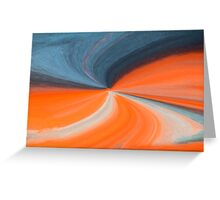 Orange And Blue Art Greeting Card