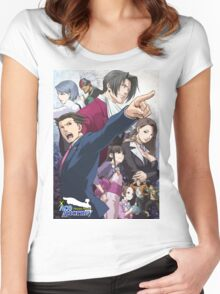 Ace Attorney - Trilogy Women's Fitted Scoop T-Shirt