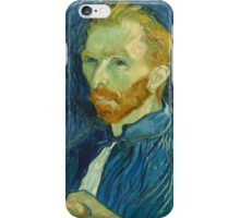 Vincent Van Gogh - Self-Portrait, 1889  Impressionism iPhone Case/Skin