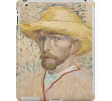 Vincent Van Gogh - Self-portrait with straw hat, March  - June 1887  Impressionism iPad Case/Skin