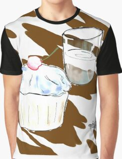 Cupcake & a Glass Graphic T-Shirt