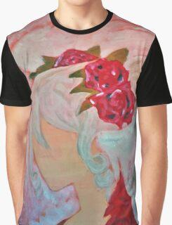 Faceless Angel of Roses and Wings Graphic T-Shirt