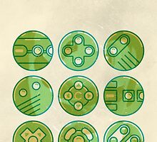 Video Game Controllers by vladmartin
