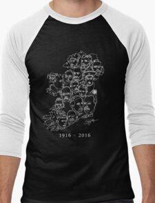 1916 commemorative print: White on Green Men's Baseball ¾ T-Shirt