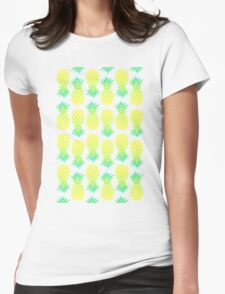 Pineapple Blend Pattern Womens Fitted T-Shirt