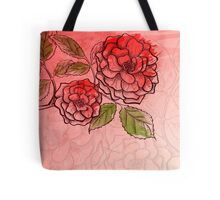 Sketch rose background Tote Bag