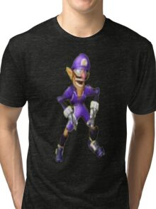 Crotch Chop Waluigi Tri-blend T-Shirt
