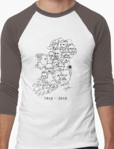 1916 commemorative print: Black on White Men's Baseball ¾ T-Shirt
