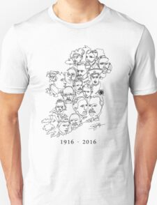1916 commemorative print: Black on White T-Shirt