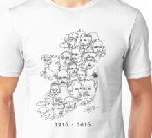 1916 commemorative print: Black on White Unisex T-Shirt