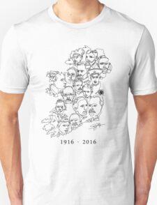 1916 commemorative print: Black on White T-Shirt