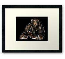 Monkey - Chinese Zodiac by Liane Pinel Framed Print