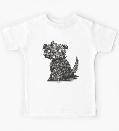 Scruffy Dog- Ink Illustration Kids Tee