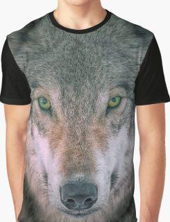 Gray Wolf head shot portrait Graphic T-Shirt