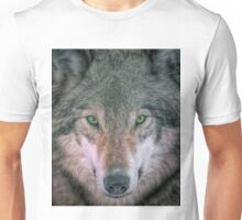 Gray Wolf head shot portrait Unisex T-Shirt