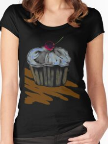 Cupcake and Field of Chocolate Women's Fitted Scoop T-Shirt