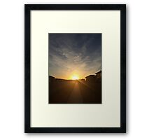 Goodnight, Suburbia Framed Print
