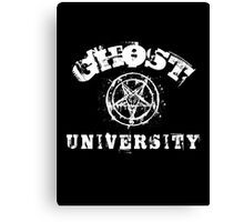 GHOST UNIVERSITY - white letters Canvas Print