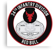 34th Infantry CFMB Canvas Print