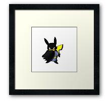 Batchu --- Pikachu as Batman Framed Print