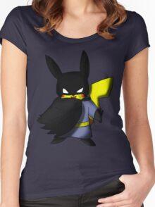 Batchu --- Pikachu as Batman Women's Fitted Scoop T-Shirt