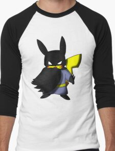 Batchu --- Pikachu as Batman Men's Baseball ¾ T-Shirt