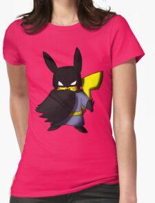 Batchu --- Pikachu as Batman Womens Fitted T-Shirt