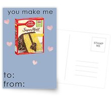 You Make Me... Funny Valentines Card Postcards