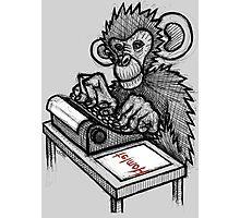 Monkey Writes Hamlet Photographic Print