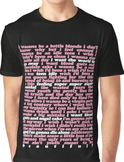 TEEN IDLE LYRICS Graphic T-Shirt