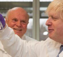Boris Johnson with chief scientist Tony Ford Sticker