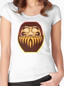 daruma Women's Fitted Scoop T-Shirt