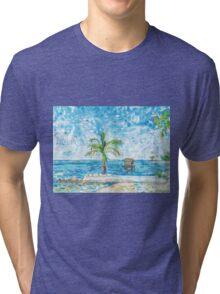 South Malé Sandbarge Tri-blend T-Shirt
