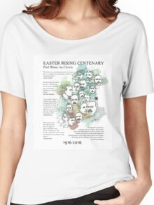 1916 commemorative print: watercolour & pen text Women's Relaxed Fit T-Shirt
