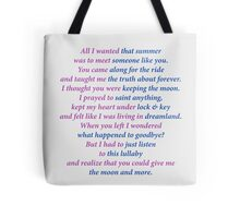 Sarah Dessen title poem Tote Bag