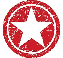 Red Star (distressed) Photographic Print