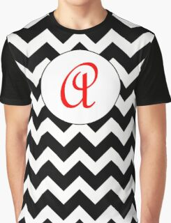 Red A Chevron Graphic T-Shirt