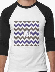 Purple Chevron A Men's Baseball ¾ T-Shirt