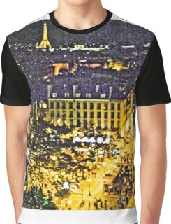 Street of Paris from Centre Pompidou - Artistic Graphic T-Shirt