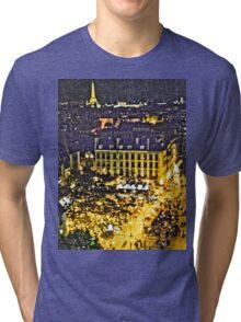 Street of Paris from Centre Pompidou - Artistic Tri-blend T-Shirt