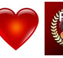 I Love PFA (Scarlet) Sticker
