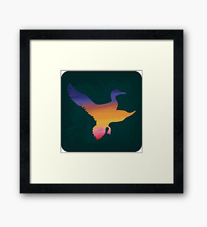 Sunset Duck Hunt Framed Print